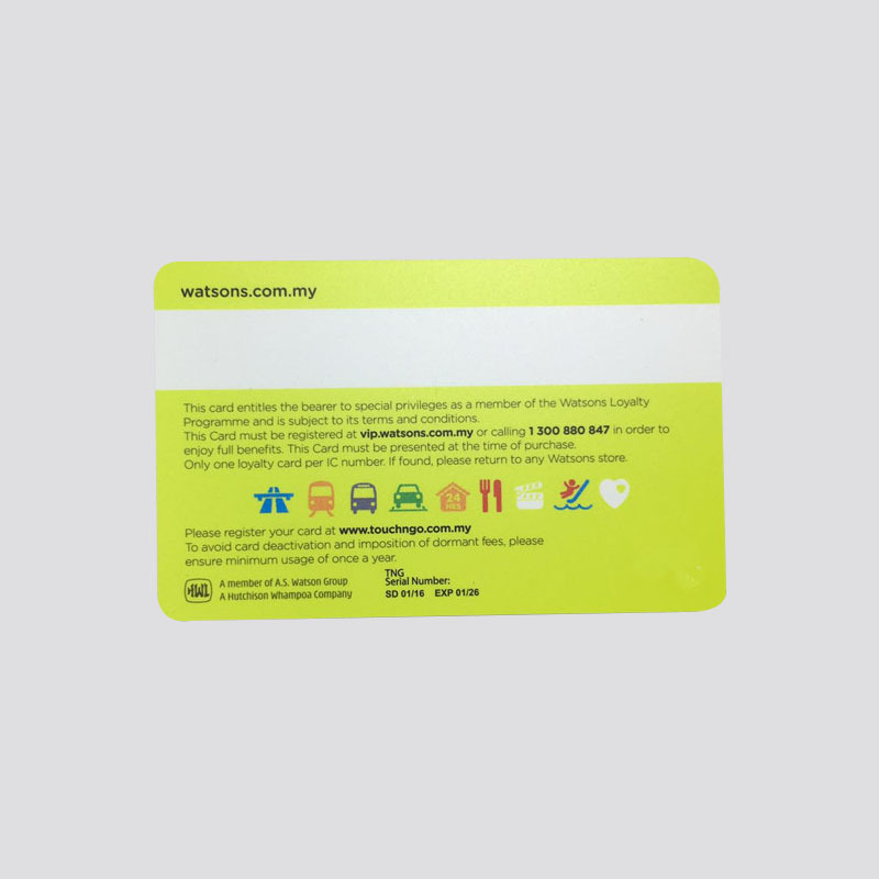 NFC smart card with NTAG215